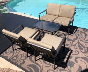New patio set two chairs, love seat and table. (Tempe) for Sale in Tempe, AZ