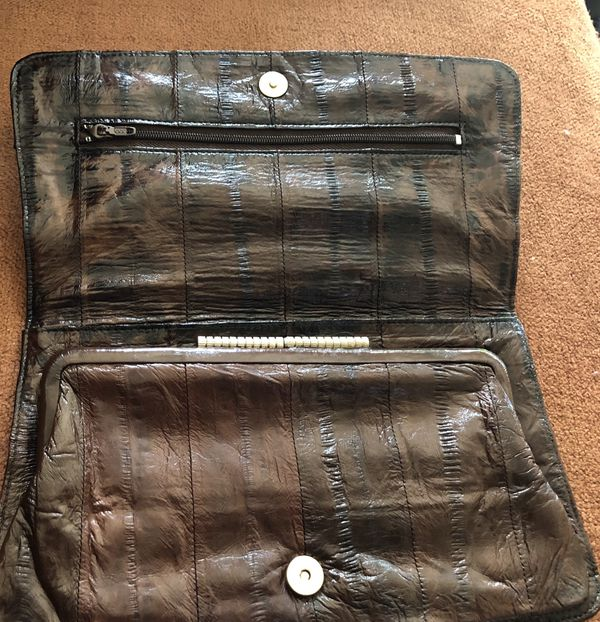 Vintage EEL SKIN Clutch Purse