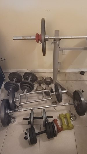 Weider weight bench and weights for Sale in Phoenix, AZ