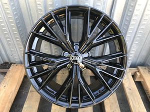 "Audi rims tires set 19"" black a4/5/6/7 for Sale in Hayward, CA"