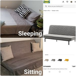 FOR SALE: IKEA Nyhamn Sleeper Sofa bed / futon for Sale in Columbus, OH