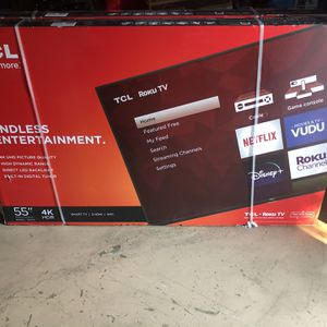 Brand New 55 Inch TCL 4k Roku Tv for Sale in Anaheim, CA