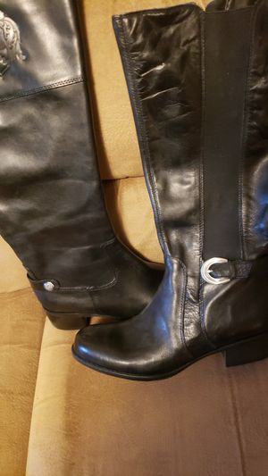 Two calf length leather boots with wide calf adjustments for Sale in Auburn, WA