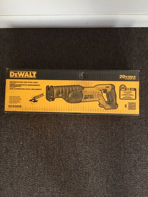 DeWalt. 20V MAX Lithium Ion Cordless Reciprocating Saw (Tool Only). DCS380B. for Sale in Brooklyn, NY