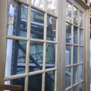 MMI Door Both active unfinished pine Glass 15 lite clear true unfinished pre hung interior French d for Sale in Austell, GA