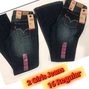 Levi's Girls Straight/Flare 2 Pairs brand New size 16 for Sale in Eatontown, NJ