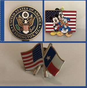 Patriotic Metal pins and magnet for Sale in Houston, TX