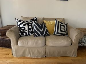 FREE Sofa and loveseat. Much loved by family. Shows some wear (discoloration and separation at seat cushion). Can be stitched. Smoke free home. for Sale in Winter Park, FL