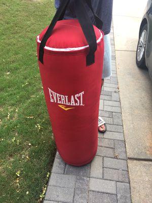 Everlast 70LB punching bag for Sale in Douglasville, GA