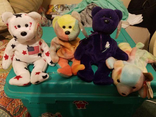 Rare Beanie Babies, mint condition