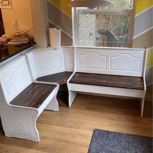 Corner Kitchen Nook Bench for Sale in Beaverton, OR