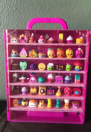 SHOPKINS CASE WITH 48 SHOPKINS for Sale in Lucas, TX