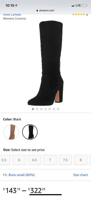 Vince Camuto black boots for Sale in Azusa, CA