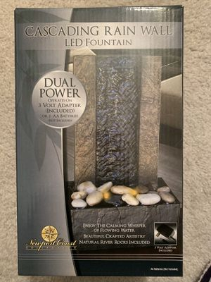 Cascading rain wall LED fountain for Sale in Wheeling, IL