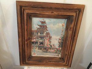 Vintage Framed San Francisco Chinatown Don Davey 1968 for Sale in Lakebay, WA