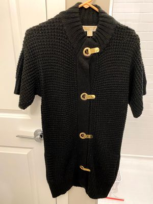 Brand New Women's Michael Kors Black and Gold Oversized Sweater for Sale in Downers Grove, IL