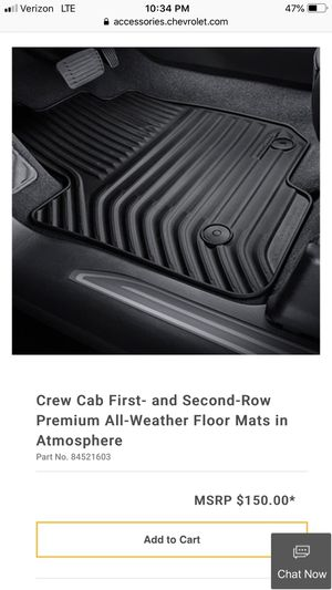 2019 Chevy Silverado all-weather floor mats for Sale in La Mirada, CA
