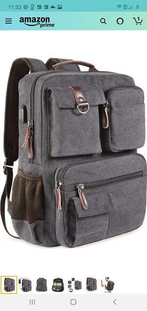 New Canvas Laptop Backpack for Sale in North Las Vegas, NV