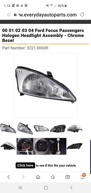 Ford focus 2002 passager headlight assembly for Sale in Corona, CA