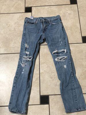 Levi's 513 Distressed Slim Ripped Jeans W 29 L 32 for Sale in Apopka, FL