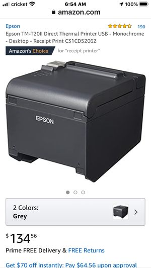 Epson receipt printers NEW for Sale in Arnold, MO