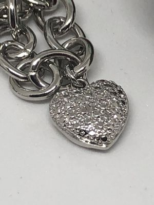 """18"""" Rolo Necklace with Diamond Heart Charm for Sale in Shelton, CT"""