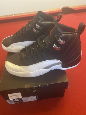 Air Jordan Retro 12 Black/Varsity Red-White Boys Size 4.5 for Sale in Tolleson, AZ