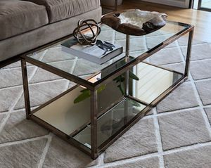 Mirrored gold coffee table for Sale in San Leandro, CA