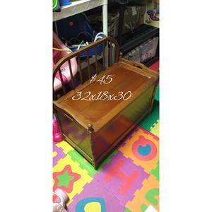Wooden Bench with Storage- Located in Branford for Sale in Branford, CT