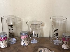 Rae Dunn Glass Candle Holder for Sale in Astatula, FL
