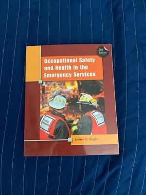 Occupational safety and health in the emergency services 3rd edition for Sale in Montebello, CA