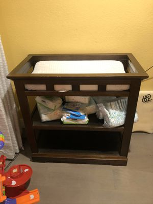 Baby changing table with pad for Sale in San Clemente, CA