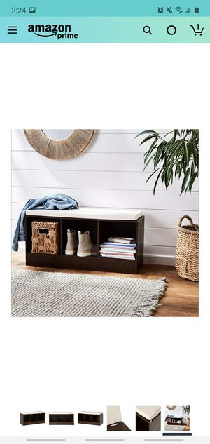 3 cube storage bench NEW for Sale in Fresno, CA