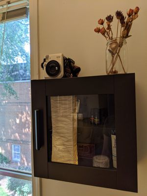 LIKE NEW Ikea Brimnes wall cabinet with glass door & shelves for Sale in Washington, DC
