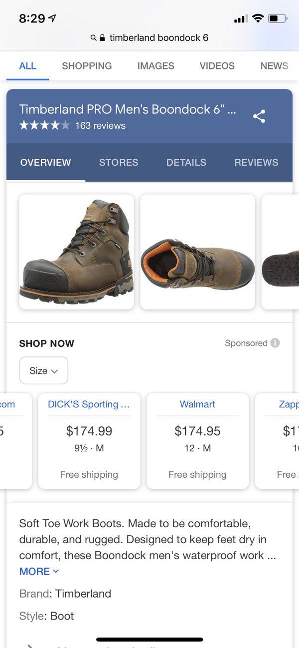 "Timberland Boondock 6"" composite Waterproof work boots size 12"