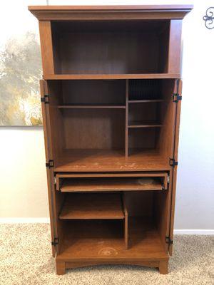 SAUDER 5.5 foot Computer Armoire Hideaway Desk with locking doors for Sale in Gilbert, AZ