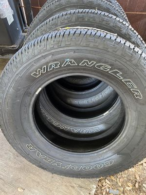 18in New Goodyear Wrangler Tires—P265/70/18–100% Tread for Sale in Sunnyvale, TX