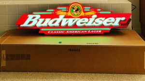 Budweiser neon sign . New in the box for Sale in Tracy, CA