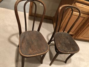 Antique (1910) Bentwood Chairs for Sale in Mundelein, IL