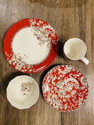Noble Excellence Hawthorne Brick Red Dinnerware for Sale in Arlington, VA