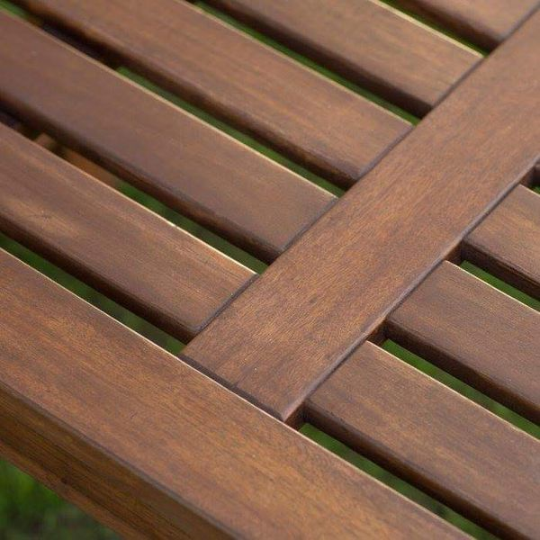 Wood Backyard Bench Outdoor Seat Backless Yard Patio Furniture Modern Contemporary