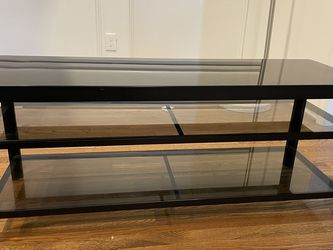 Black Glass Media TV Stand for Sale in Dallas,  TX
