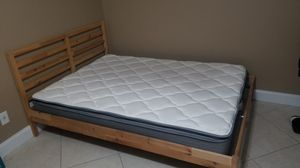 Ikea Full bed frame with Mattress for Sale in Orlando, FL