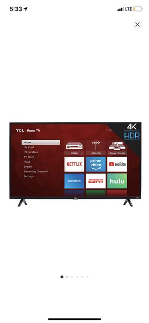 """TCL 50"""" ROKU 4K UHD HDR SMART TV for Sale in Fresno, CA"""