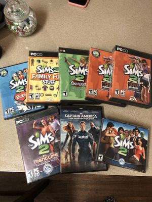 Sims 2 and Expansion Packs for Sale in Dallas, TX