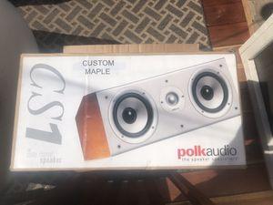 Polk Audio CS1 Center Channel Speaker - Maple for Sale in Bellflower, CA