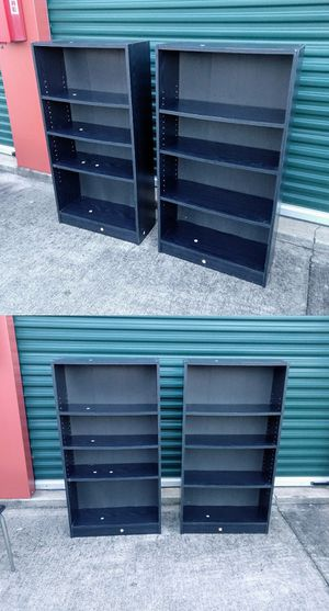 Pair Of Black Bookshelves for Sale in Durham, NC