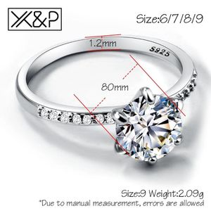 Size 6,7&8 X&P Classic Engagement Ring 6 Claws Design AAA White Fashion Women Wedding Band Rings 2019 Jewelry for Sale in Aspen Hill, MD