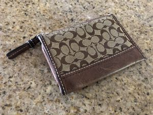 Coach Signature Canvas Leather Card Case Wallet for Sale in Tigard, OR