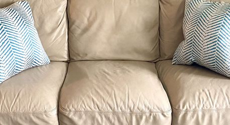 Leather Couch Tan Bone Color for Sale in Littleton,  CO